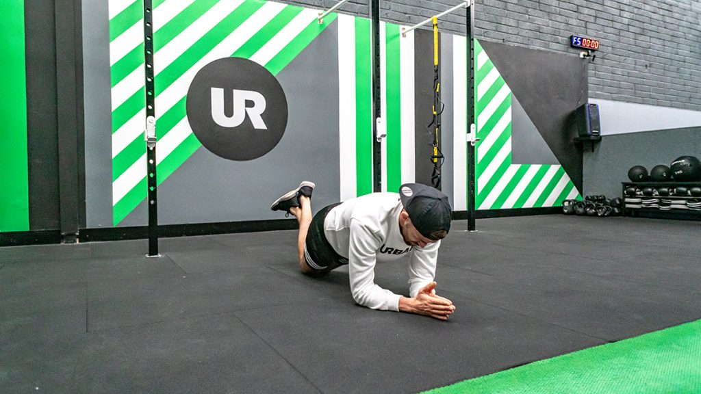 plank to press up posture - new ross