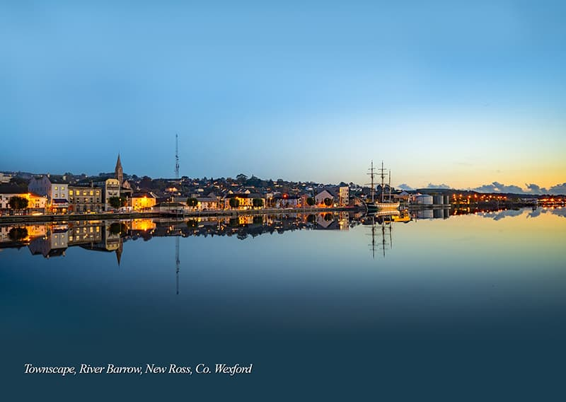 Dusk Townscape, River Barrow, New Ross, Co. Wexford.